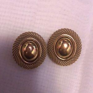 Nina Ricci Oval Clip On Earrings